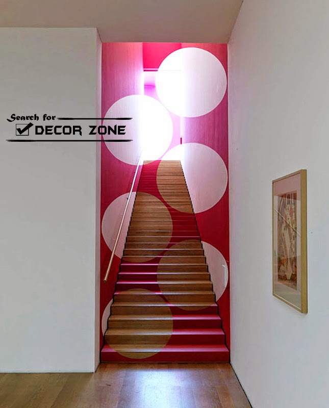 Staircase Designs 20 Painted Stairs Ideas A Way To Renovate Your | Stairs Wall Paint Design | Luxury Staircase Wall | Wallpaper | Wall Colour | Beautiful | Wall Painting