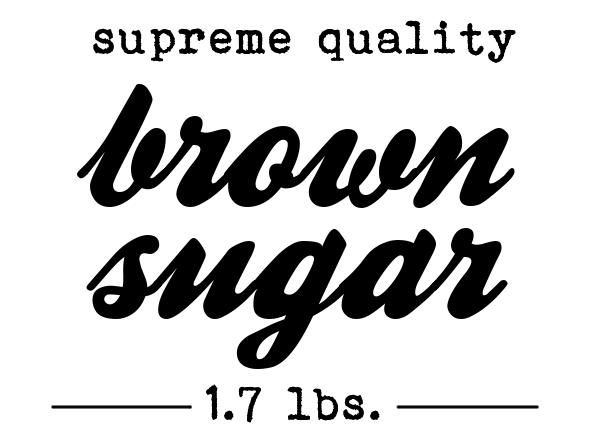 Freebie Printable Vorratsgläser Etiketten brauner Zucker