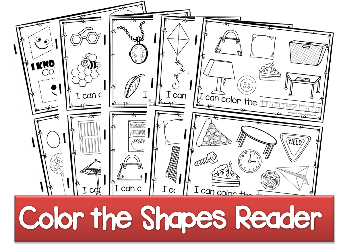 Color The Shapes Reader Tpt 857
