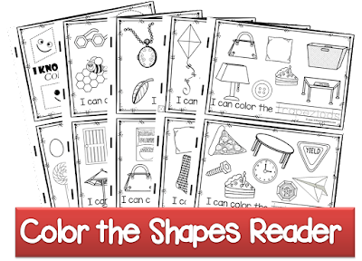 kindergarten shape emergent reader