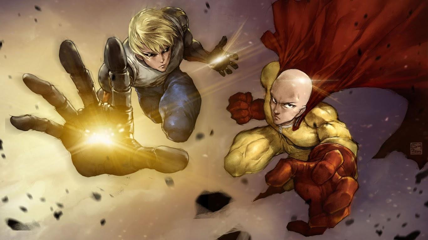 Saitama and Genos, One Punch Man, 8K, #105 Wallpaper