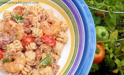 Blackened Shrimp Pasta Salad