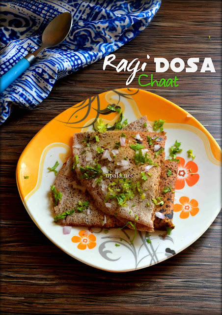 Ragi Dosa Chaat
