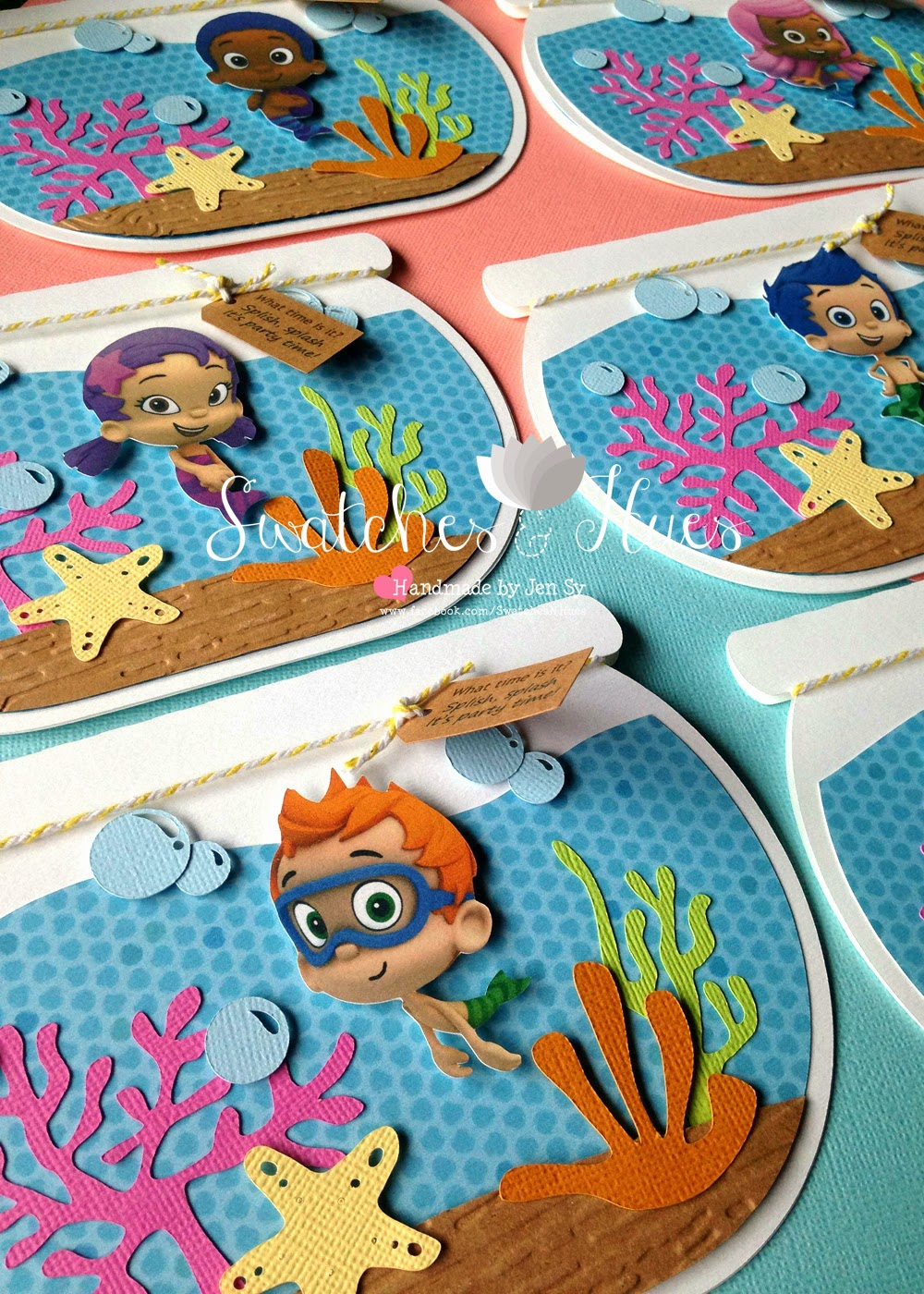 swatches  u0026 hues   handmade with tlc  bubble guppies themed
