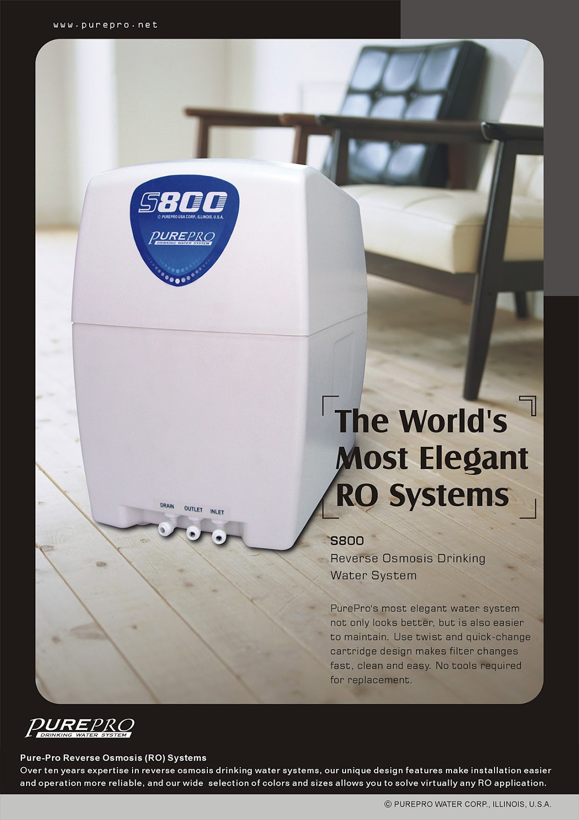 PurePro® S800 Reverse Osmosis Water Filtration System