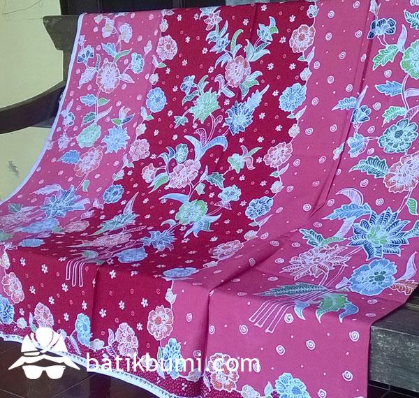 Kain Batik TULIS motif Buketan Salem