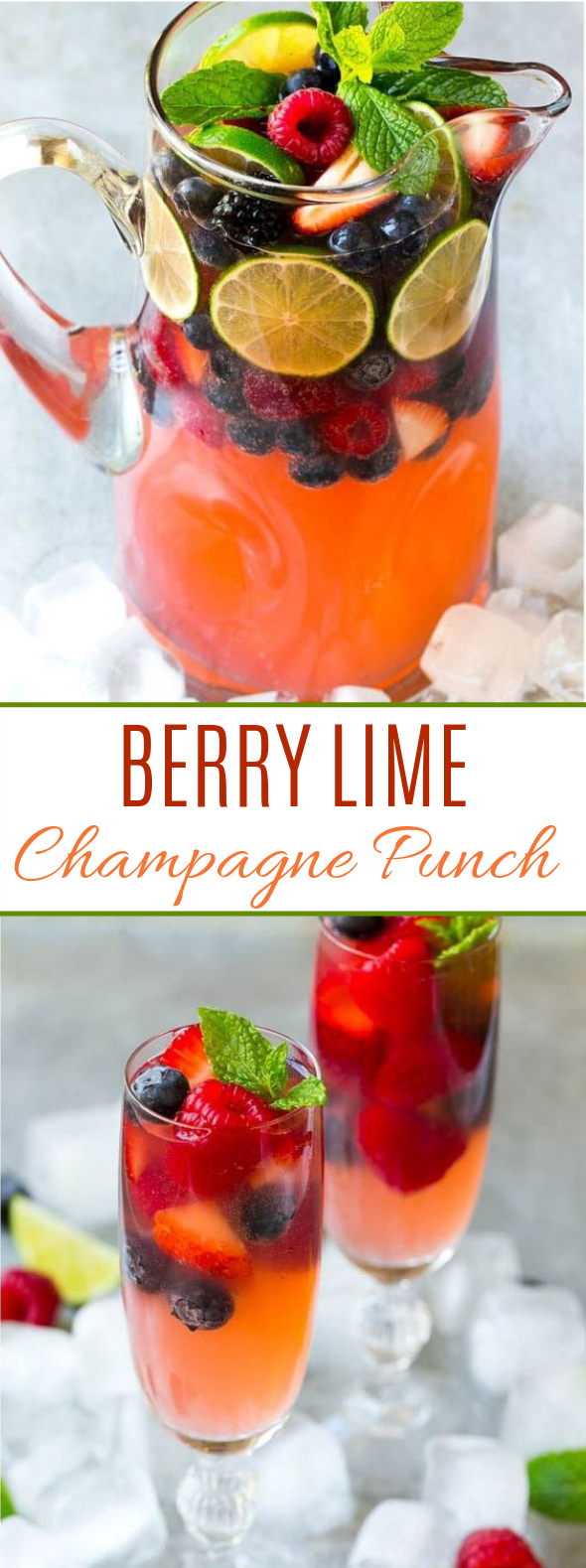 Champagne Punch with Berries #cocktail #brunch