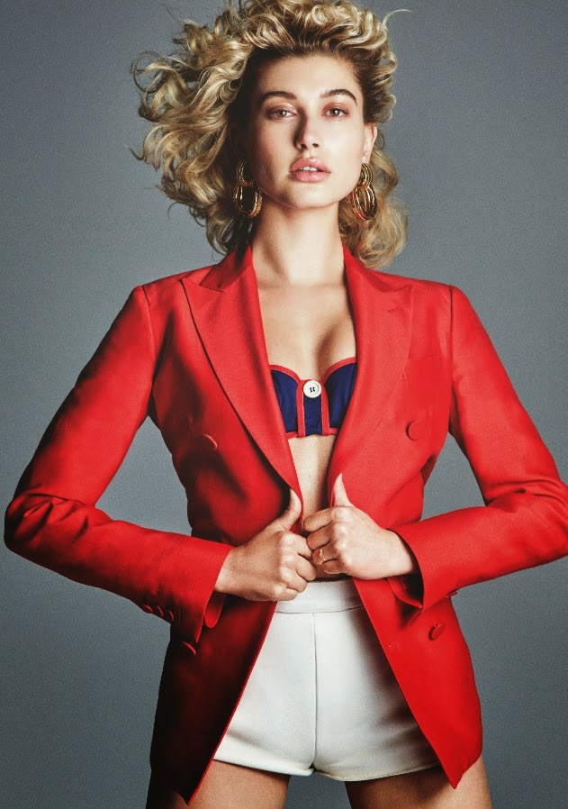 Hailey Baldwin and Lucky Blue cover Jalouse Magazine April 2015