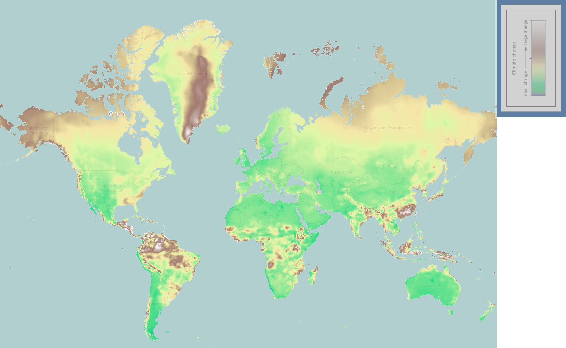 Worldwide Climate Change (2000 - 2070)
