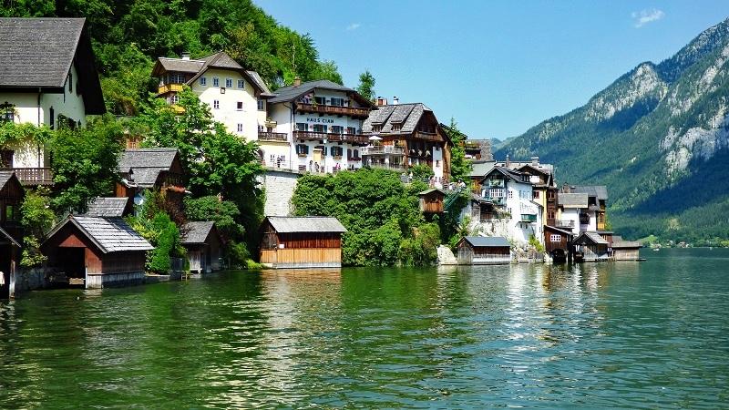 The Hallstatt, Austria - A Stunning Tiny Alpine Village Between Lofty Mountains and  A Beautiful Lake