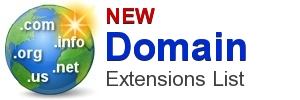 New Domain Extensions List