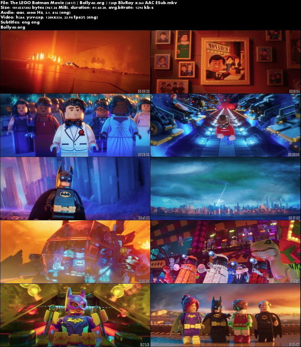 The LEGO Batman Movie 2017 BluRay English 950MB ESub 720p Download