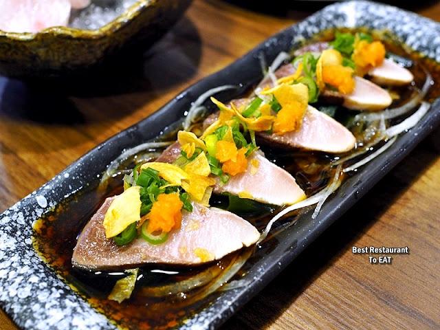 Tansen Izakaya 炭鲜居酒屋 Menu - Hamachi 4-Course OMAKASE Meal Menu - Tataki