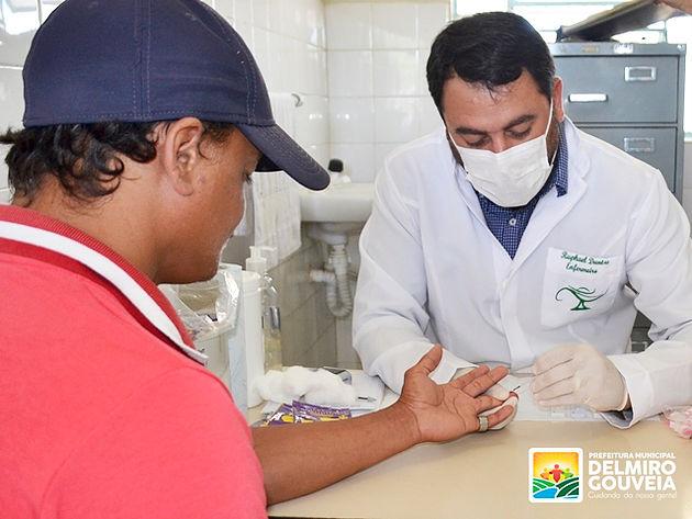 Governo em Ação realiza cerca de 480 atendimentos pela Secretaria Municipal de Saúde em Delmiro Gouveia