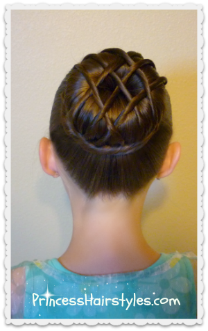 hot cross bun hairstyle dance