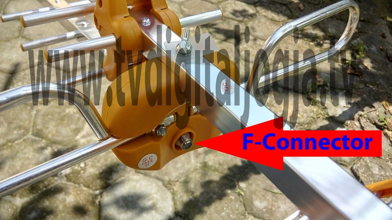Tips Dan Trik Memasang Antena Uhf Part 2 Televisi Digital Jogja Tv Dalam Tarik Indoor Vhf Ampamp Antenna Output With F Type Female Connector