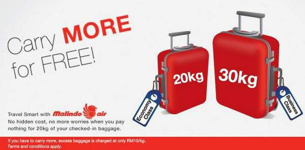 Baggage Allowance for Malindo Airlines