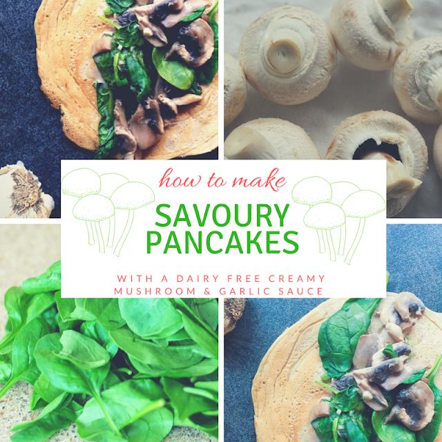 mushroom, crepe, vegan, vegetarian, dairy free, garlic, cream cheese
