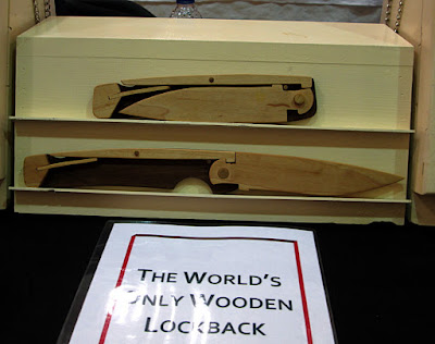 Wooden lock back knife  The  Last Table
