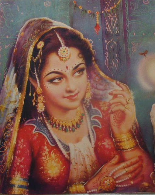 Vintage Paintings of Beautiful Woman's 11