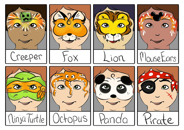 Great face painting designs for boys for birthday parties