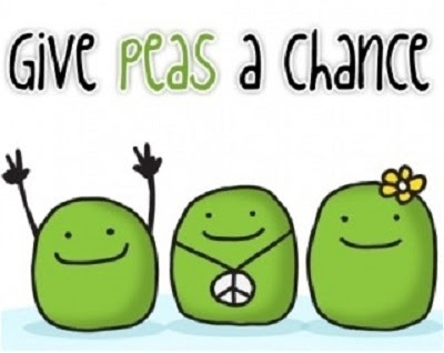 give peas a chance. HUMOR casi inteligente