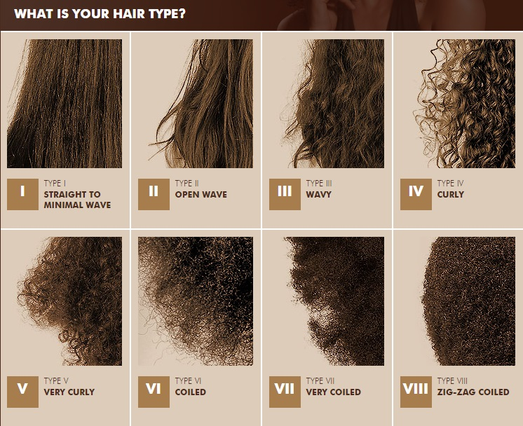 Natural Hair Curl Type Chart