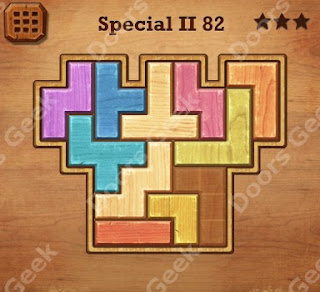 Cheats, Solutions, Walkthrough for Wood Block Puzzle Special II Level 82