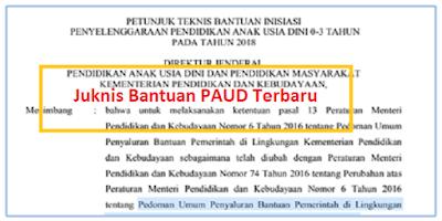 Juknis Bantuan PAUD Terbaru Tahun 2019