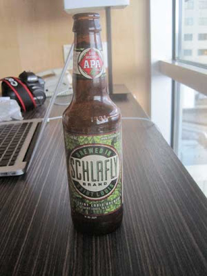 Beer bottle with label clearly reading Schlafly