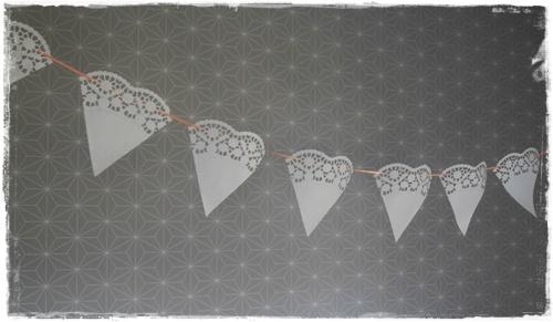 Wimpelkette Hochzeit Spitze DIY