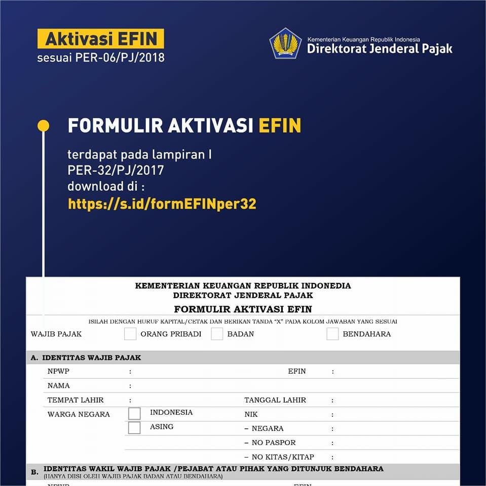 Download Formulir EFIN Pajak