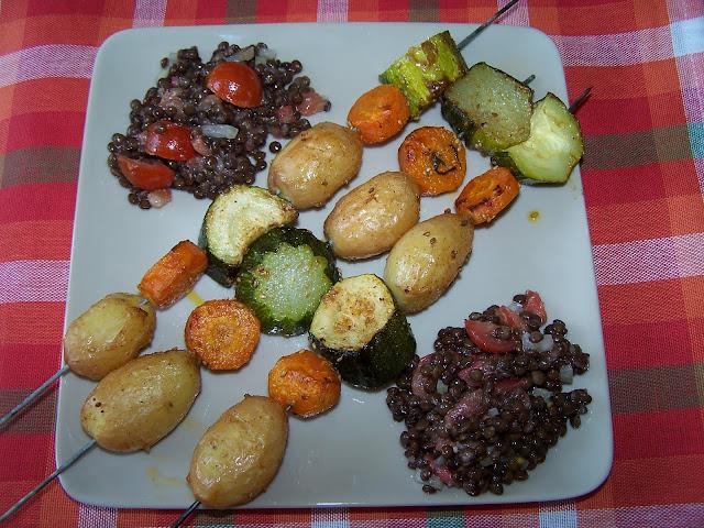 Comment faire des brochettes de légumes ?