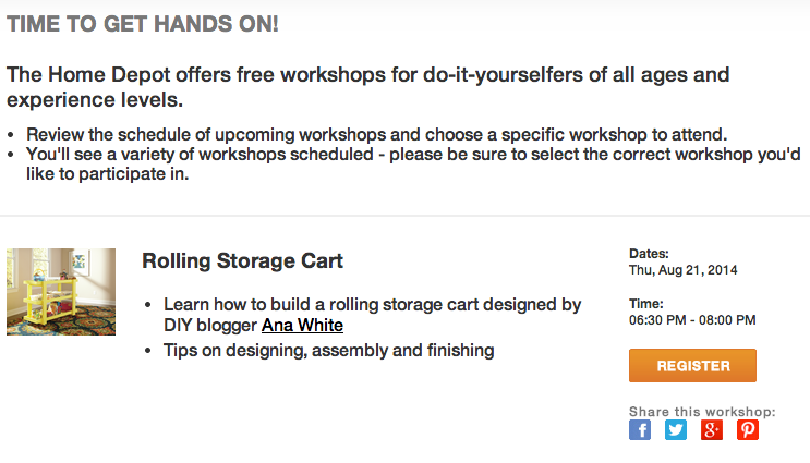 http://workshops.homedepot.com/workshops/do-it-herself-workshops
