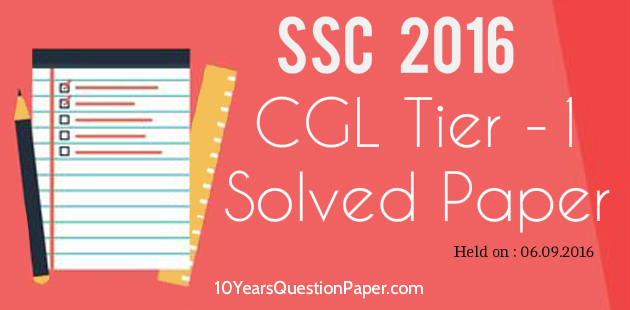SSC Online Question Paper-1 CGL