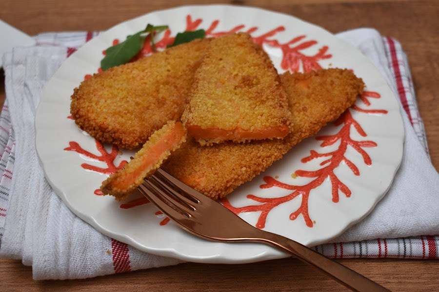 Filetes de boniato rebozados y fritos