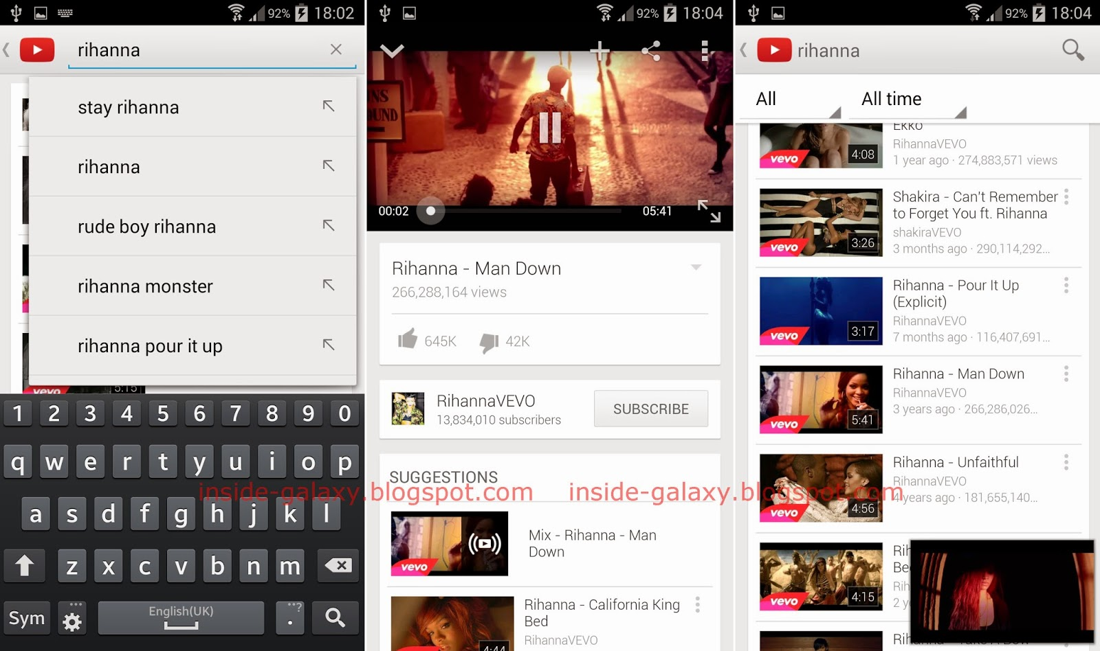 Samsung Galaxy S4: How to Watch Videos in the Youtube App in