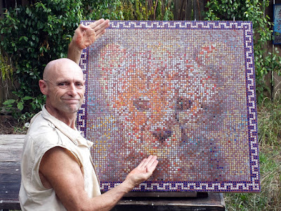 The Artist and the Mosaic just revealed in Headland, Alabama.