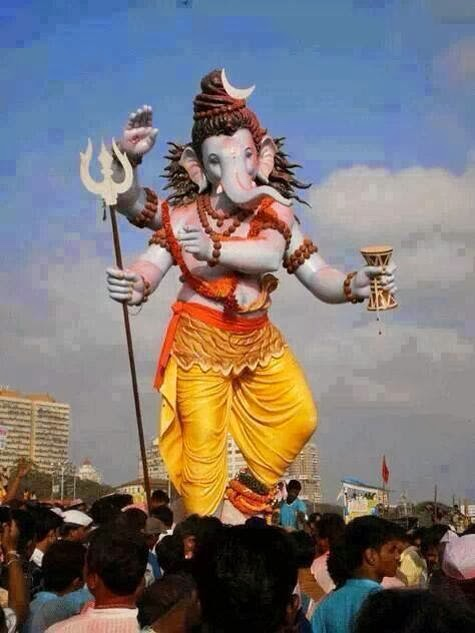 ganesh ji doing tandav