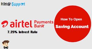open airtel payments saving bank account