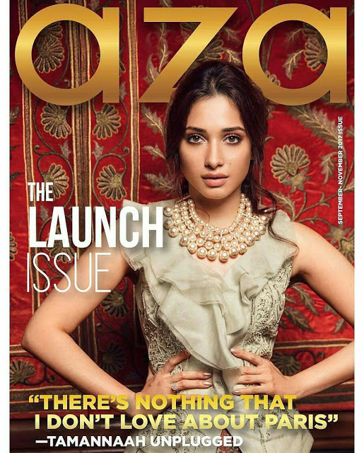 Tamannaah Poses for Aza Fashion Magazine 2017 - Southcolors