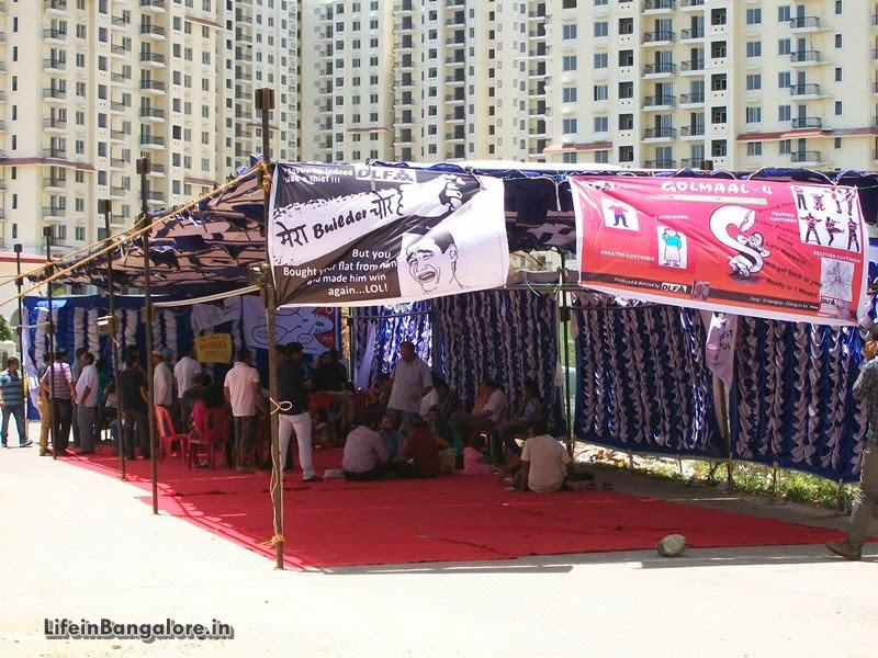 DLF Westend Heights Buyers Hunger Strike-Photo Album Below