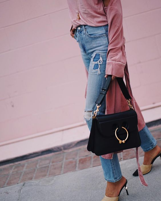 Song of Style Black JW Anderson Pierce Bag + Chanel Two Tone Mules