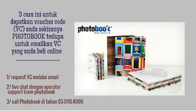 3 cara paling mudah untuk minta Voucher Code anda daripada Photobook