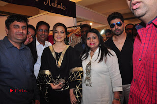 Bollywood Actress Sana Khan Launches Aakrithi Exibition  0340.JPG