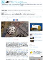 Artículo en el ABC: El bitcoin, ¿la moneda de los cibercriminales?