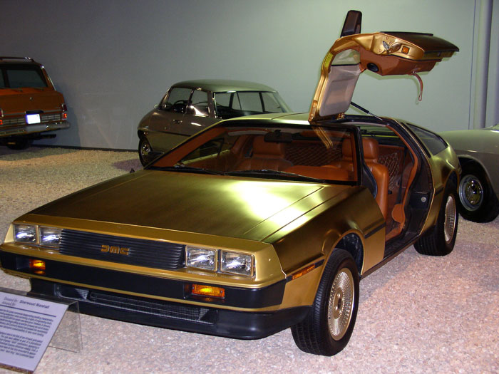 Golden Cars: The Petrol Stop: Gold Delorean DMC-12