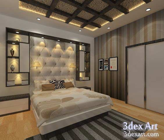 New false ceiling designs ideas for bedroom 2018 with led for New bed designs images
