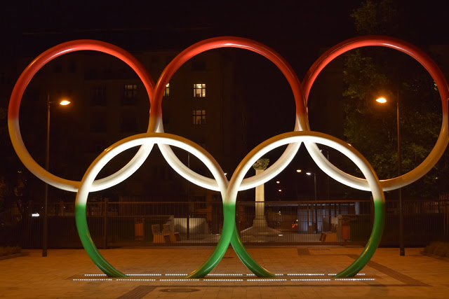 Olympic rings Budapest Olympics