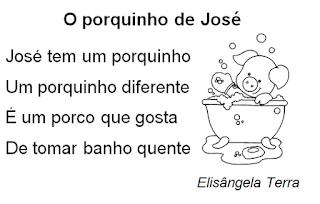 Texto O PORQUINHO DE JOSÉ, de Elisângela Terra